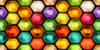 Sömlös textur av den abstrakta skinande färgrika 2D illustrationen Arkivfoton