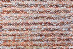 Sömlös textur av den gamla tegelstenväggen Arkivfoton