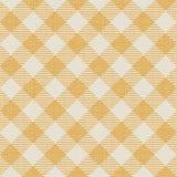 Sömlös textur av den gula plädet Arkivfoton