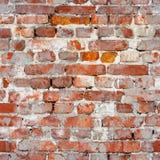 Sömlös textur av en gammal tegelstenvägg Grungearkitekturpatte Royaltyfri Bild