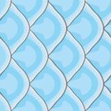 Sömlös textur av fiskvåg Arkivfoton
