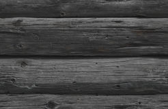 Sömlös textur av gråa träjournaler Royaltyfria Foton