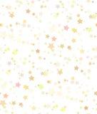 Sömlös textur av guld- stjärnor på vit bakgrund royaltyfri illustrationer