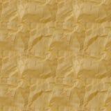 Sömlös textur av guling skrynkligt papper seamless Arkivbilder