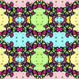 Sömlös textur av kulöra ljusa cirklar på en färgrik bakgrund royaltyfri illustrationer