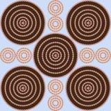 Sömlös textur cirklar bakgrund Royaltyfri Bild