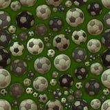Sömlös textur för fotbollbollar Arkivfoton