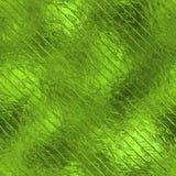 Sömlös textur för grön folie Arkivfoton