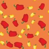 Sömlös textur 608 för gul och röd peppar Royaltyfri Fotografi