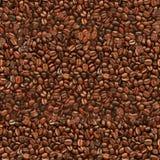 Sömlös textur för kaffebönor Arkivbilder