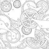 Sömlös textur för kugghjul Arkivbild