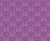 Sömlös textur för lila tappning Arkivfoton