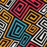 Sömlös textur för ljus färgspiral med grungeeffekt Royaltyfri Fotografi