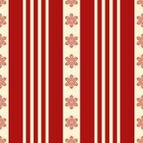 Sömlös textur för ljus jul Röda och gula snöflingor och modeller Vinterlynne Vektor för EPS 10 stock illustrationer