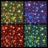 Sömlös textur för ljusa stjärnor royaltyfri illustrationer
