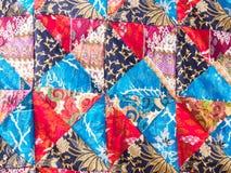 Sömlös textur för patchworkfilt Royaltyfri Foto