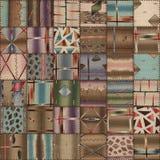 Sömlös textur för patchworktäcke royaltyfri illustrationer