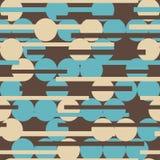 Sömlös textur för Retro cirkel Royaltyfria Bilder