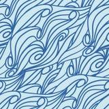 Sömlös textur för vågmodell. Vektorillustration EPS 8 Arkivbilder