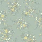 Sömlös textur för vektor med abstrakta blommor Mjuk modell Royaltyfri Foto