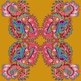 Sömlös textur för vektor med abstrakta blommor Sammansatt etnisk sömlös modell Royaltyfri Fotografi