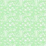 Sömlös textur med blad i de försiktiga skuggorna av gräsplan Royaltyfri Fotografi