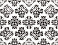Sömlös textur med den blom- modellen Royaltyfri Bild