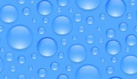 Sömlös textur med genomskinliga vattensmå droppar Royaltyfria Bilder