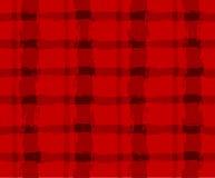 Sömlös textur med röda celler Arkivfoto