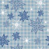 Sömlös textur med snöflingor Arkivfoto