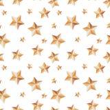 Sömlös textur med stjärnor som är festliga på en vit bakgrund vektor illustrationer
