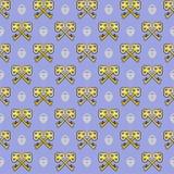 Sömlös textur med tangenter & lås Arkivbild