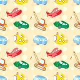 Sömlös textur med transport: ubåt bil, buss, flygplan a stock illustrationer