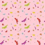 Sömlös textur på en rosa bakgrund vektor illustrationer