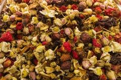 Sömlös texturbakgrund av kryddor, mång--färgad textur arkivfoto