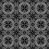 Sömlös texturbakgrund för mosaisk kalejdoskop - svart grå gråton med vit grout stock illustrationer