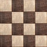 Sömlös texturkombination av läderfyrkanter Royaltyfri Fotografi