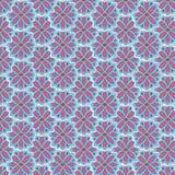 Sömlös textute med blommagarnering Blom- modelldecorat Royaltyfria Bilder