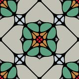 Sömlös Tilefor för färgrika former bakgrund Arkivfoto