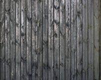 Sömlös trägammal plankabakgrund för grå tappning Weathered knäckte väggen med skalning av målarfärg, abstrakt bakgrund arkivfoto