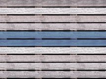Sömlös trätextur av golvet eller trottoar, träpalett med blålinjen Royaltyfri Bild