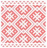 Sömlös traditionell rysk slavisk prydnad Royaltyfria Bilder