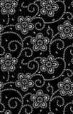 Sömlös traditionell svartvit bandannamodell vektor illustrationer
