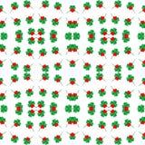 Sömlös treklöverbakgrundsmodell med det röda hjärtabladet, Sts Patrick dag Royaltyfri Illustrationer