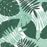 Sömlös tropisk sidamodell för vektor royaltyfri illustrationer