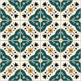 Sömlös tunisian stilmodell royaltyfri illustrationer
