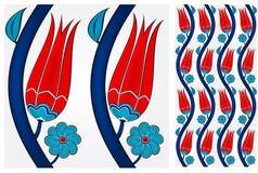 Sömlös turkisk tegelplatta stock illustrationer