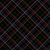 Sömlös tygtextur för mörk rutig diagonal tartan Royaltyfri Bild