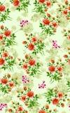 Sömlös unik blommatexturbakgrund stock illustrationer