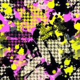 Sömlös upprepande modell för färgpulver för handhantverk uttrycksfull Arkivfoto